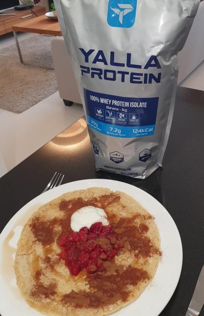Banana Protein Pancakes by Chelsea